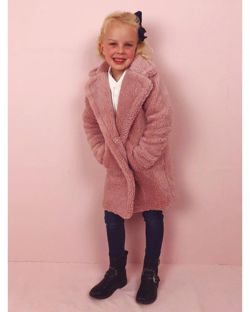 Teddy Coat Kids - Pink