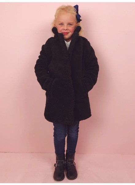 Teddy Coat Kids - Black