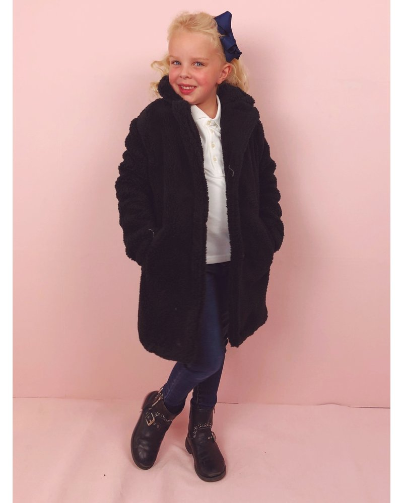 Teddy Coat Kids - Black