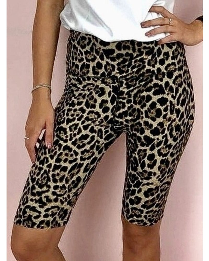 Leopard Cycle Short - Brown