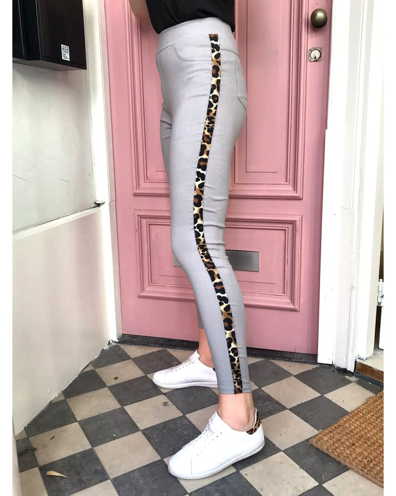 Leopard Tregging - Grey