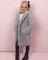 Teddy Coat Kids - Grey