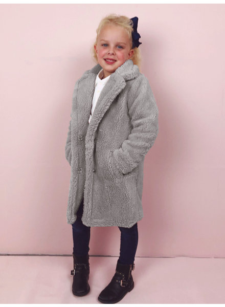 Teddy Coat Kids - Grey