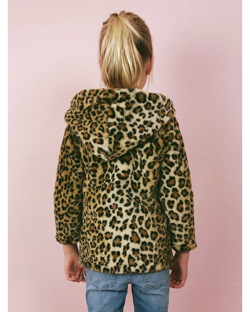 Leopard Kids Fake Fur Coat