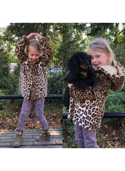 Leopard Kids Fake Fur Coat