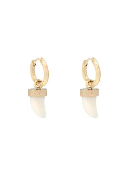 Bull's Eye Earrings - Gold