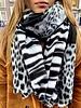 Winter Leopard Scarf - Grey