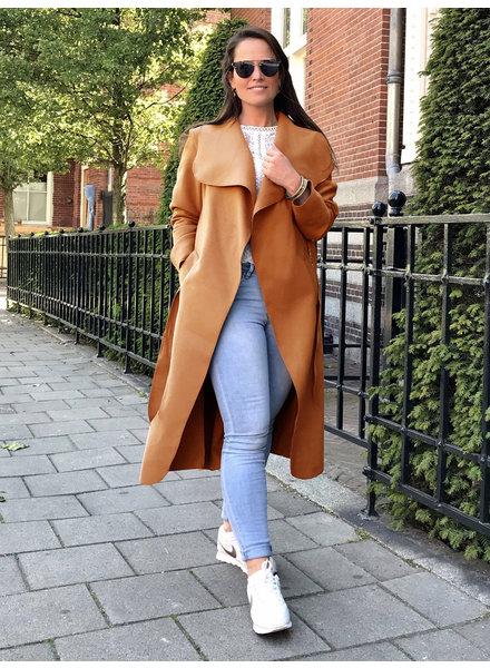 Parisian Coat Long - Camel Brown