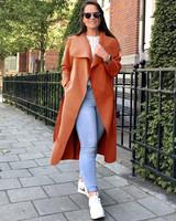 Parisian Coat Long - Rusty