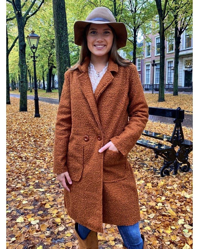 Chloe Teddy Coat - Rusty