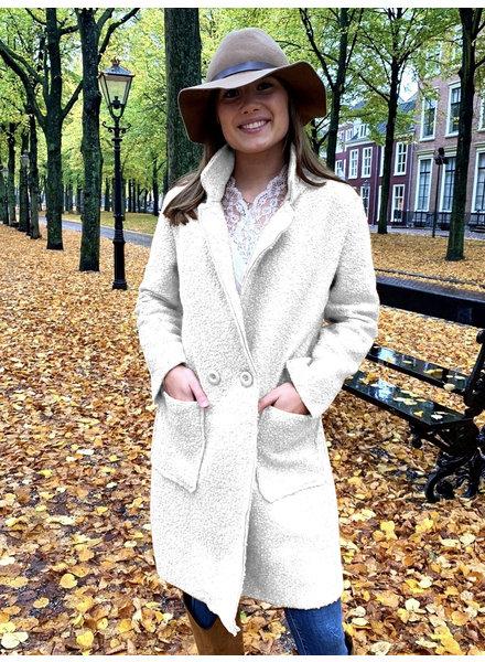 Chloe Teddy Coat - White