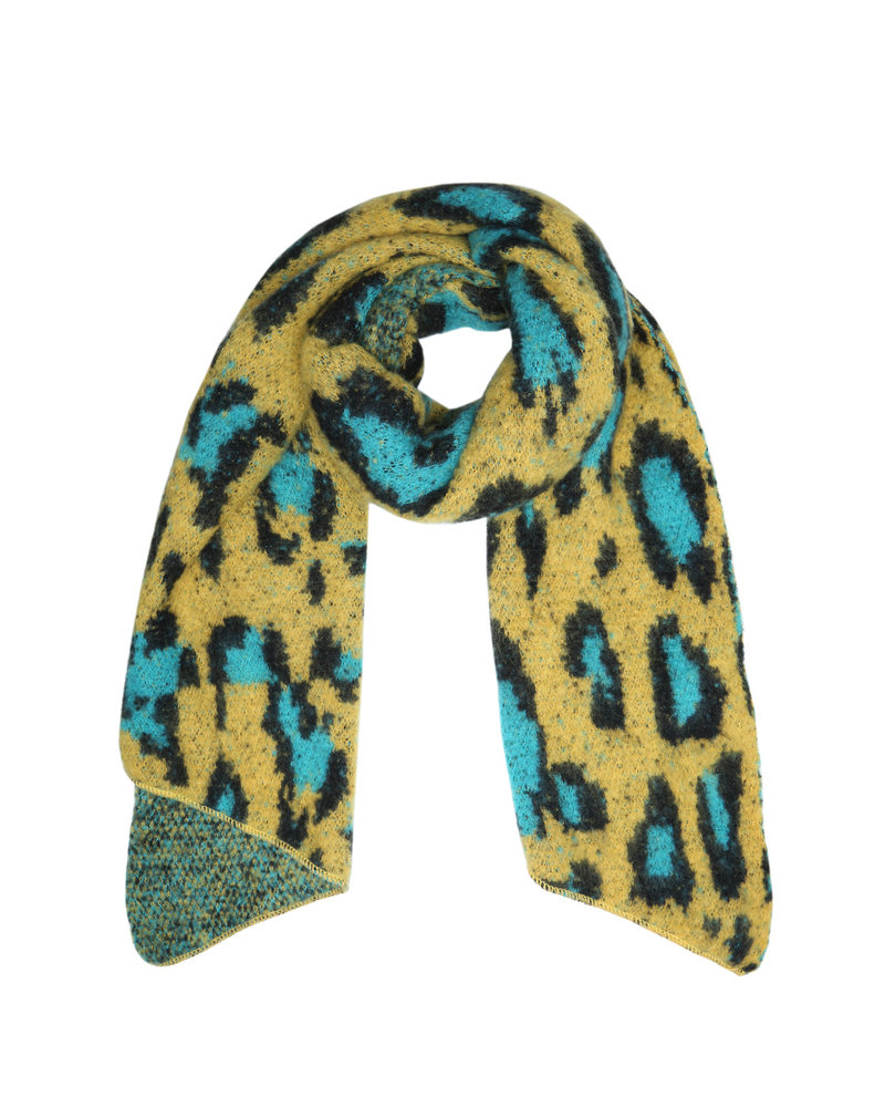 Musthave Leopard Scarf - Oker