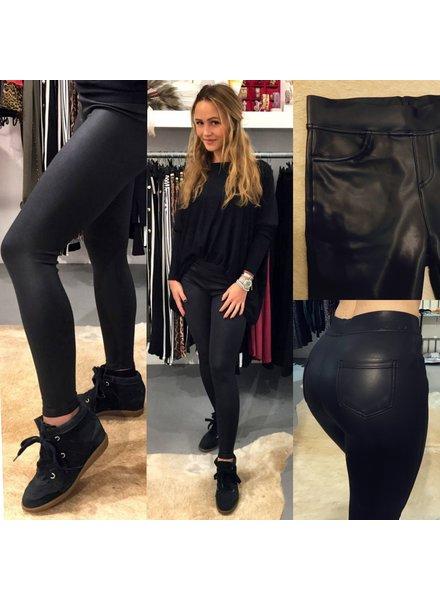 MATT Leather Look Legging - Black