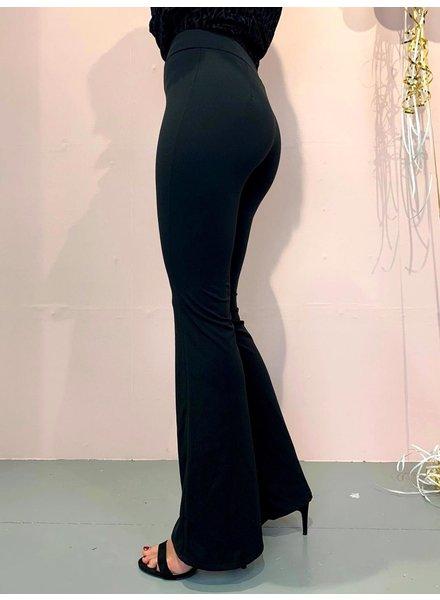 Basic Flared Pants - Black
