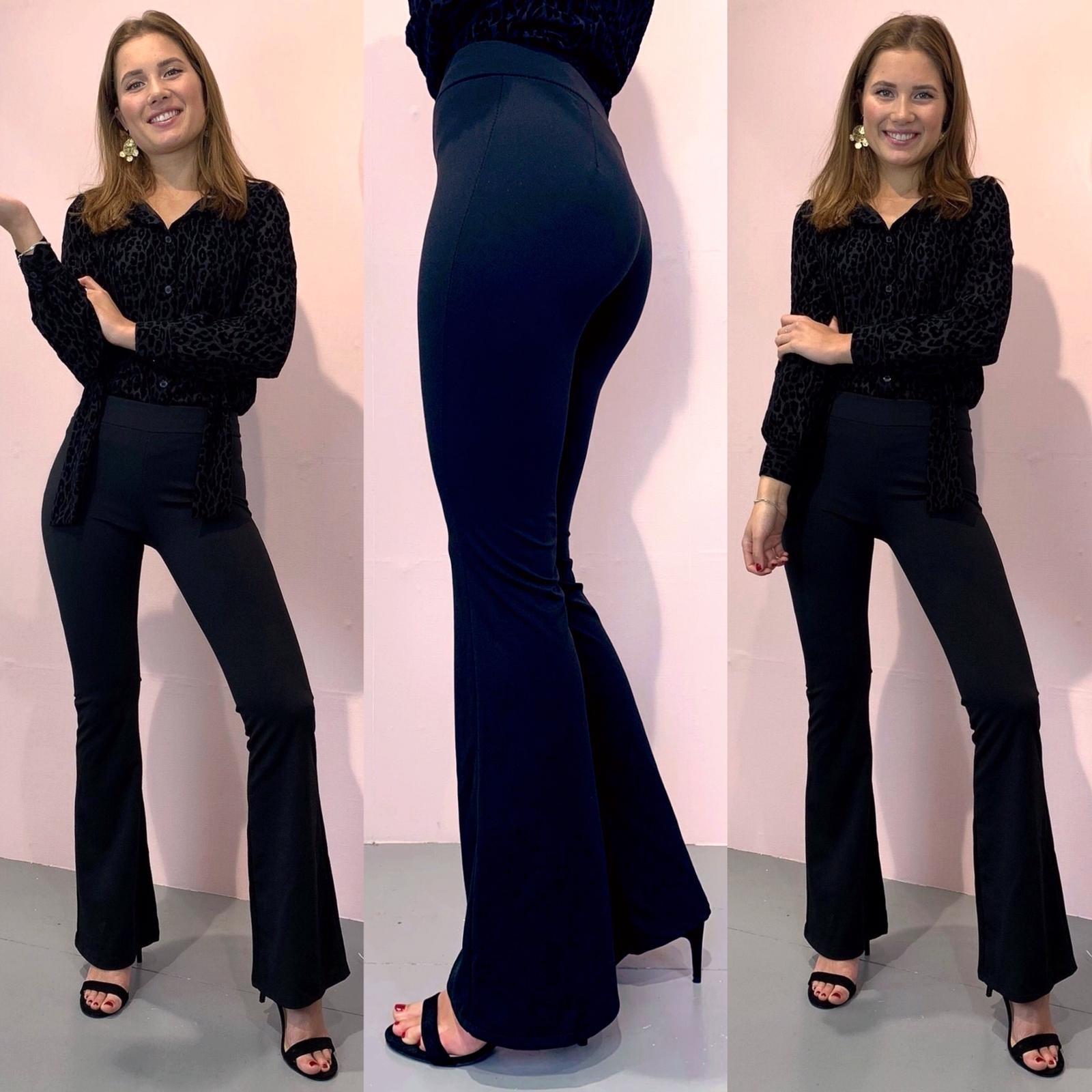 Basic Flared Pants Black