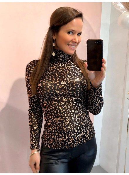 Leopard Top - Rose Gold