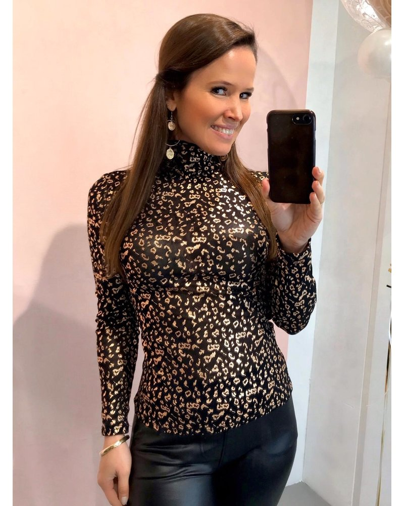 Leopard Top - Rose Gold