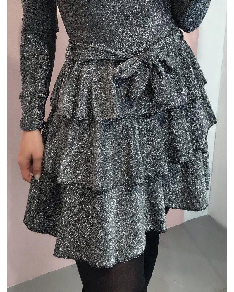 Ruffle Sparkle Skirt - Silver