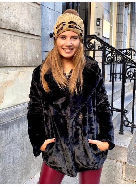 Perfect Faux Fur Coat Short - Black