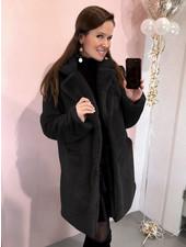 Paris Faux Fur Coat - Black