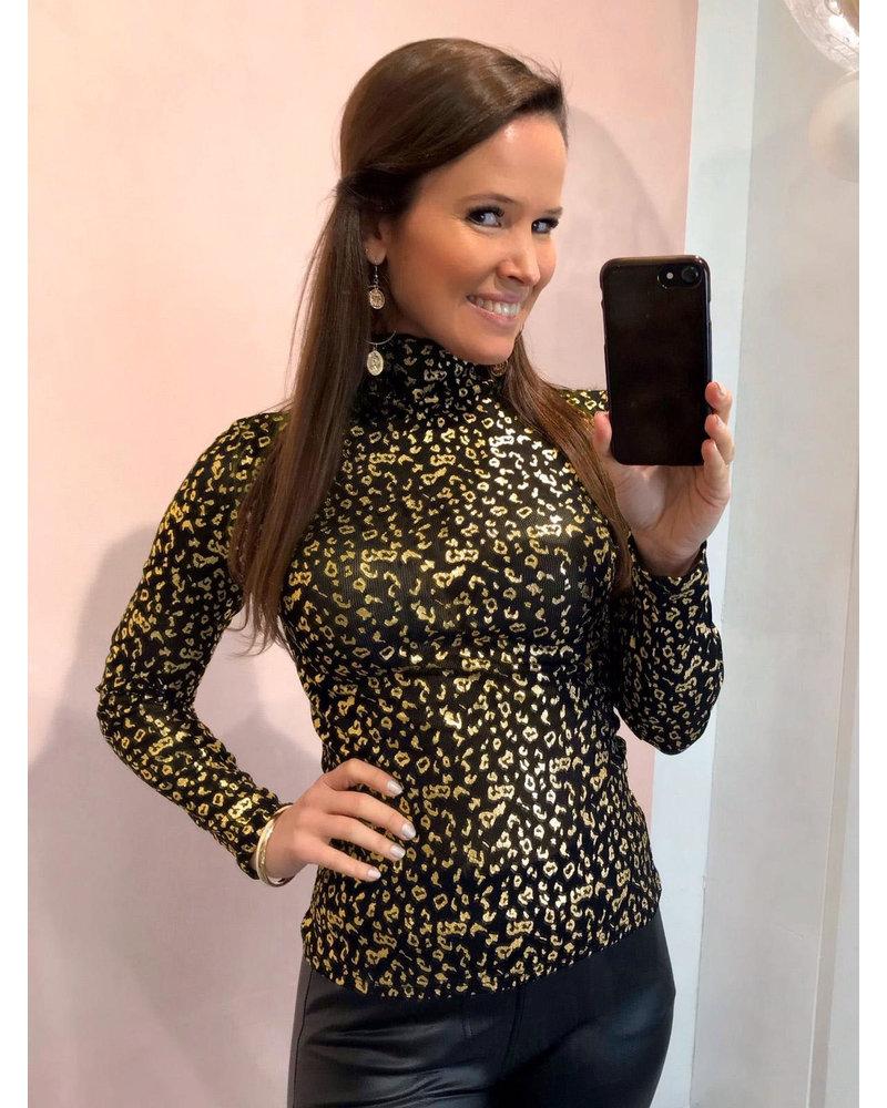 Leopard Top - Gold