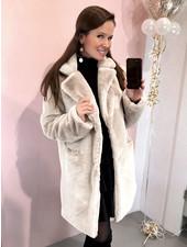Paris Faux Fur Coat - Beige