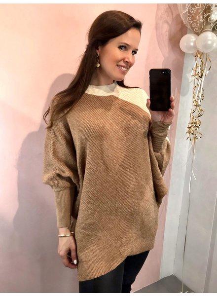 Sparkle Sweater - Camel / Beige