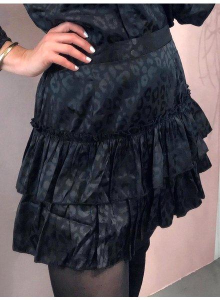Leopard Skirt - Black