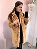 Paris Faux Fur Coat - Light Camel