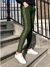 WINTER Leopard Striped Jogging - Green