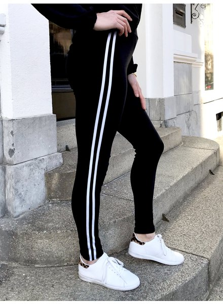 Striped WINTER Legging - Black