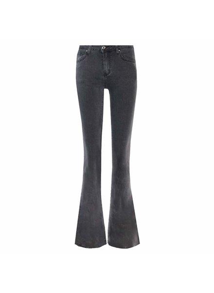 Nina C Flared Jeans - Grey