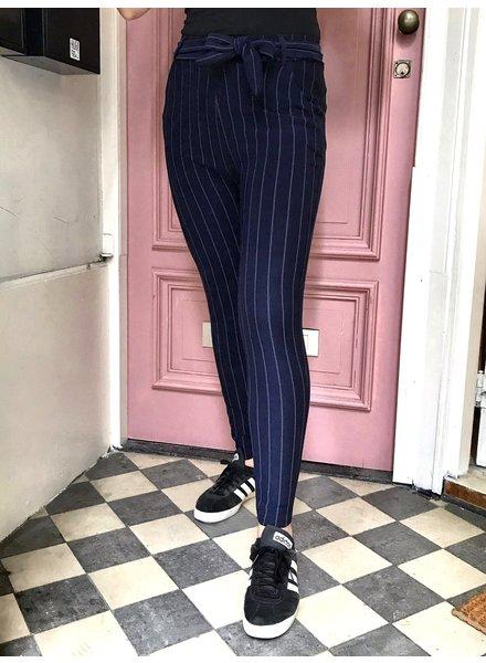 Striped Strik Pants - Navy