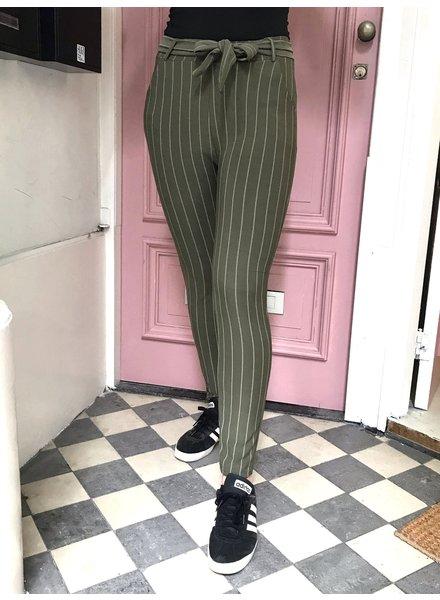 Striped Strik Pants - Green