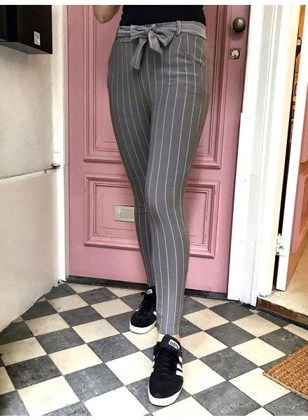 Striped Strik Pants - Grey