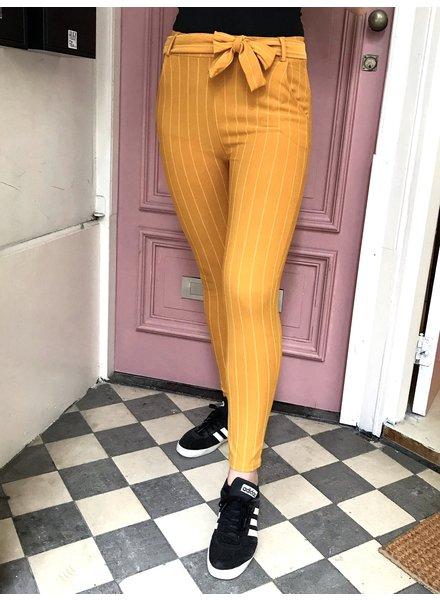 Striped Strik Pants - Oker