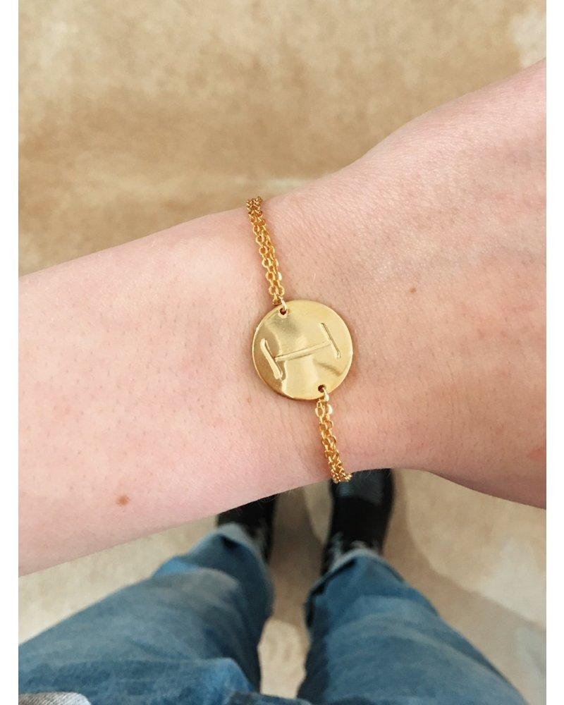 Initials Bracelet I - Gold