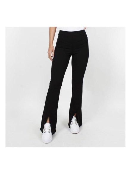 Fabulous Split Flare Pants - Black