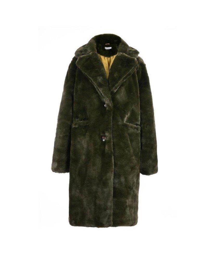 Fabulous Fake Fur Coat - Army Green (PRE-ORDER)