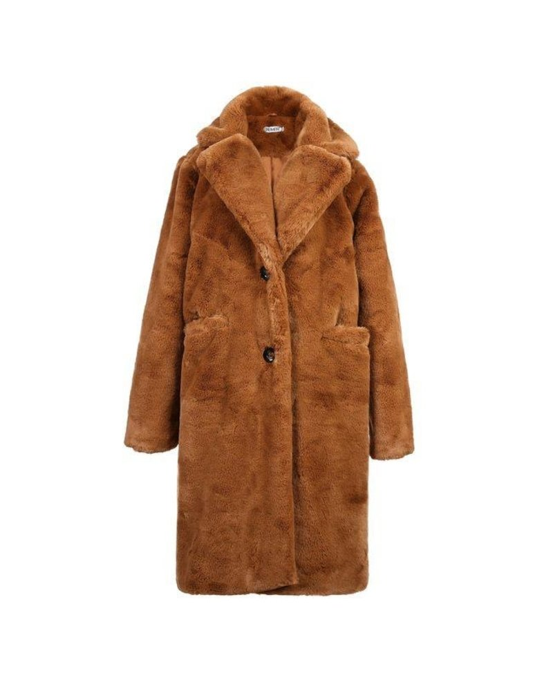 Fabulous Fake Fur Coat - Camel