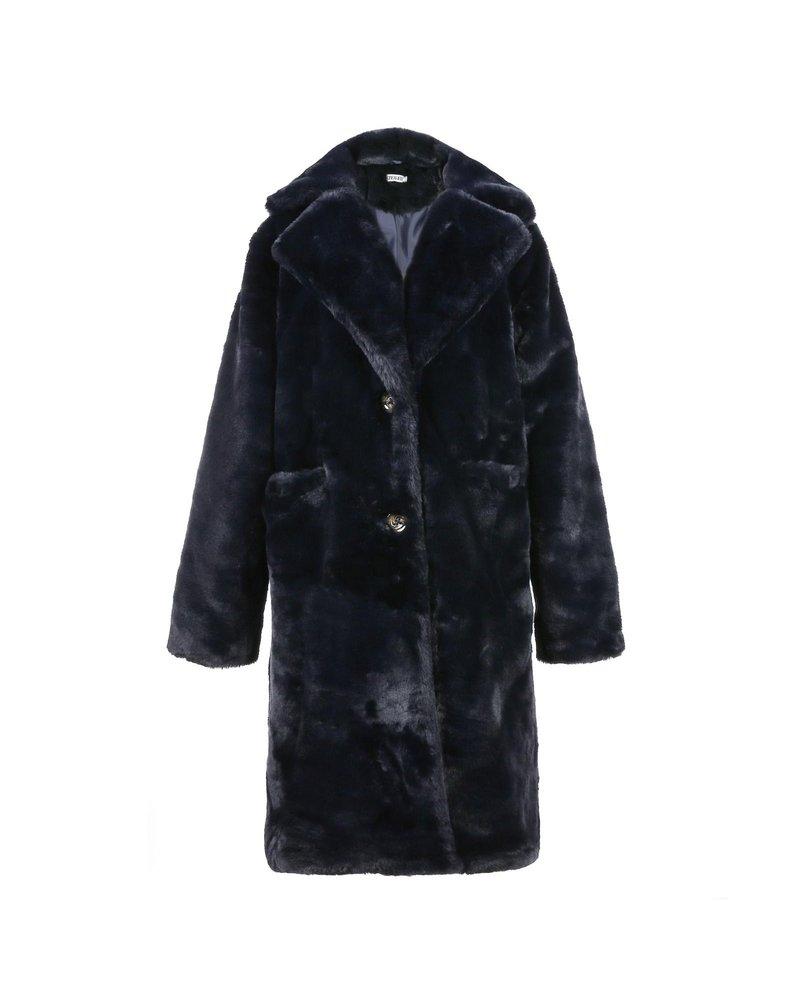 Fabulous Fake Fur Coat - Navy (PRE-ORDER)