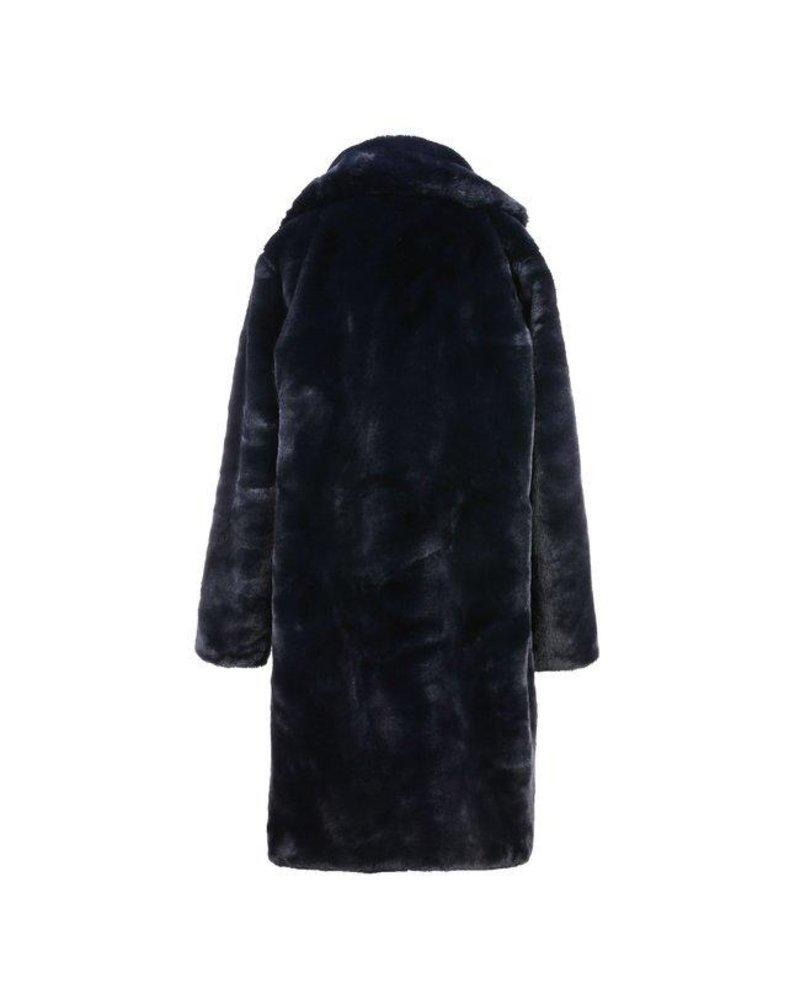 Fabulous Fake Fur Coat - Navy