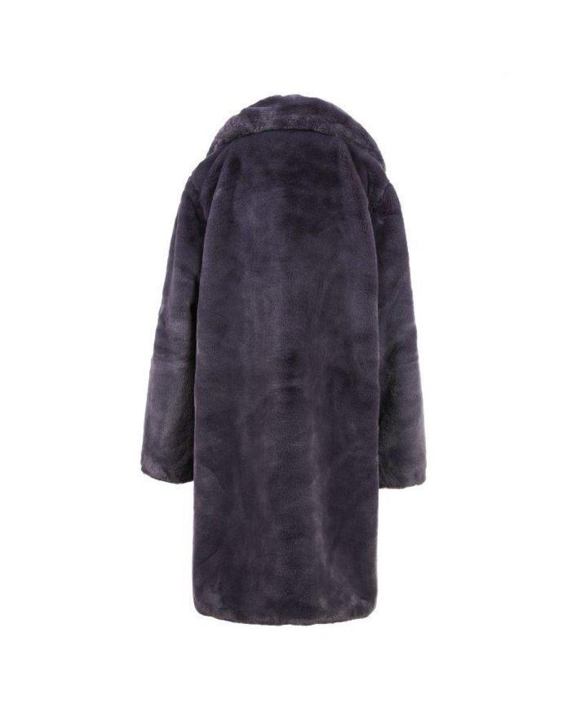Fabulous Fake Fur Coat -  Dark Grey (PRE-ORDER)