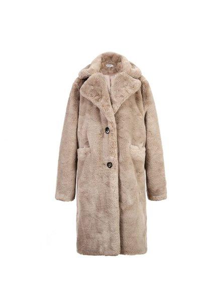 Fabulous Fake Fur Coat -  Light Grey (PRE-ORDER)