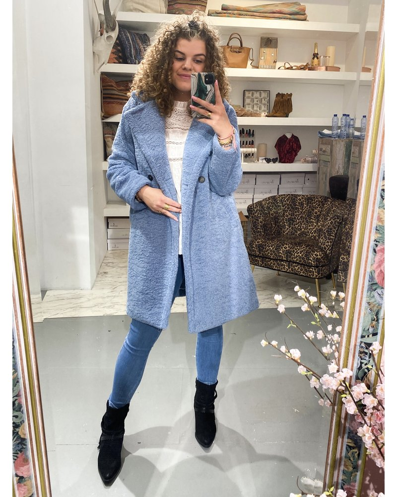 Musthave Teddy Coat - Blue