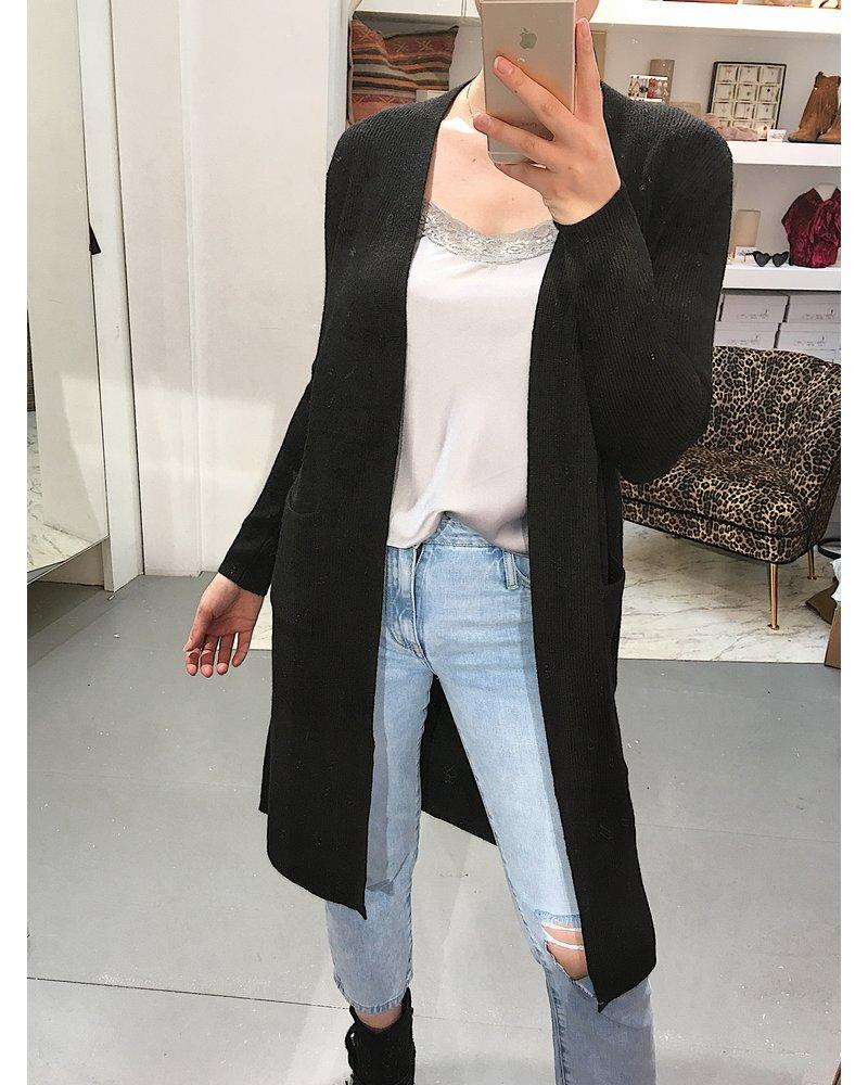 Extra Long Vest - Black