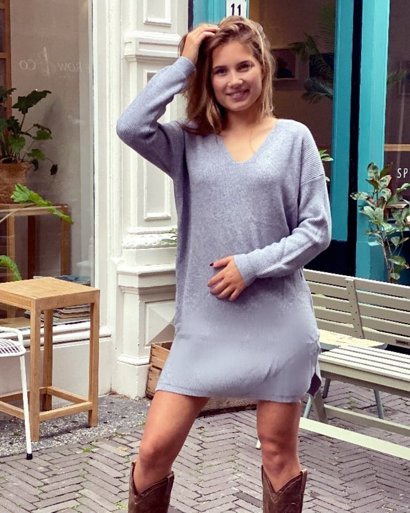 Comfy Sweater Dress - Grey