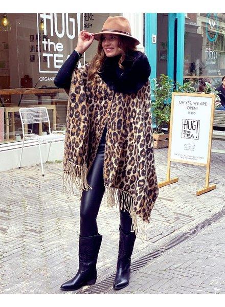 Fabulous Leopard Cape - Brown/Black