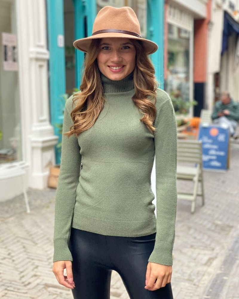 Fabulous Col Sweater - Army Green