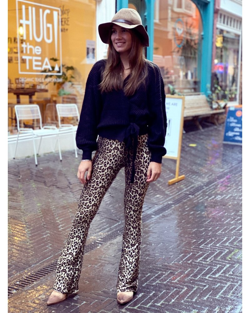 Leopard Flare - Brown
